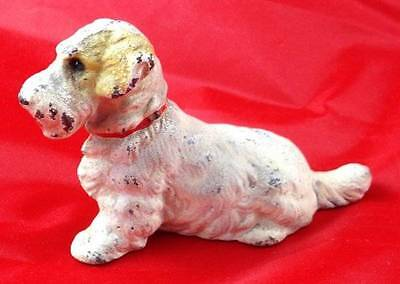 Vintage HUBLEY Cast Iron SEALYHAM TERRIER Puppy Dog Red Collar