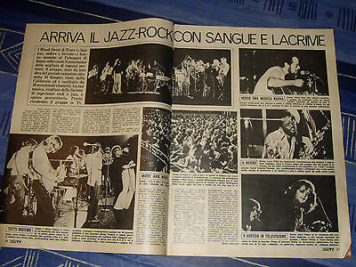 BLOOD SWEAT & AND TEARS clipping articolo foto photo 1972