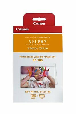 New Sealed Canon SELPHY RP-108 High-Capacity Ink and Paper  CP910 CP820 C1000