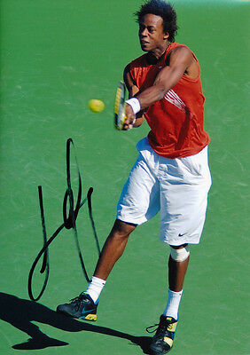 Gael Monfils Signed 5X7 Inches Tennis ATP Photo