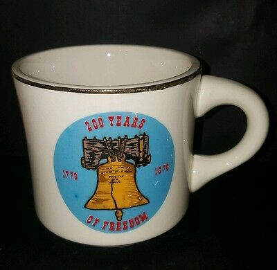 Vtg BSA Liberty Bell 200 Years of Freedom Bicentennial Boy Scout Coffee Cup