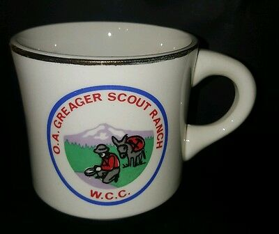 Vtg BSA O.A. Greager Scout Ranch W.C.C. Boy Scout Coffee Cup
