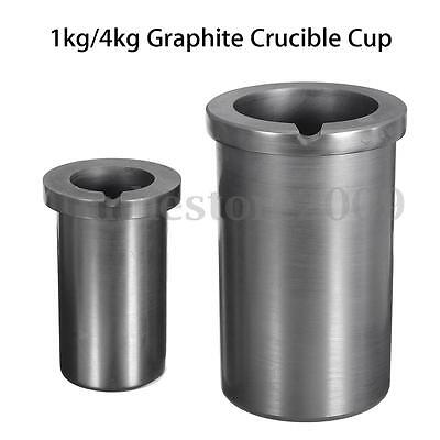 Pure Graphite Crucible Cup Propane Torch Melting Gold Silver Copper Metal 2-4KG