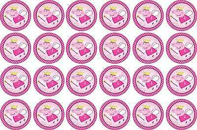 Peppa Pig ~ Fairy / Princess ~ Edible Image Rice Paper cupcake Toppers x 12