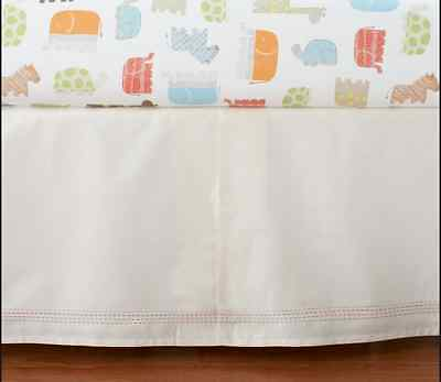 New Pottery Barn Baby Kids Crib Skirt Bedskirt Organic Safari Animals Sold Out