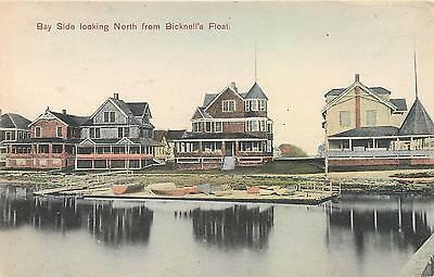 HULL, Allerton MA   Handcolored BAY SIDE North - Bicknell's Float  1909 Postcard