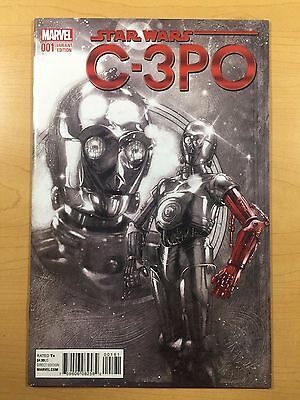 MARVEL Comics STAR WARS: C-3PO #1 Harris 1:1000 VARIANT Red Arm Ships FREE! NM!