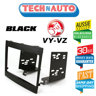Vy Vz Commodore Double Din Car Stereo Facia Fascia Kit Black 2Din Dash Radio Kit