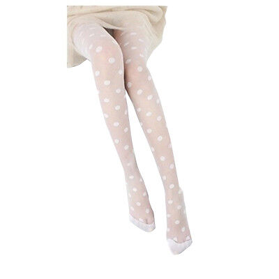 New Fashion White Sheer Polka Dots Stockings Tights One size CT