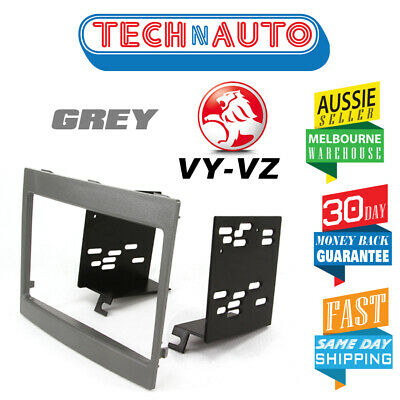 Vy Vz Commodore Double Din Car Stereo Facia Fascia Kit Grey 2Din Dash Radio Kit