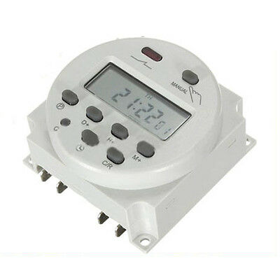 New LCD Digital Control Power Programmable Timer DC 12V 16A Time Relay Switch CT