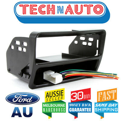 FORD FALCON AU 1 2 3 SINGLE-DIN BLACK FACIA KIT adaptor dash fascia panel pocket