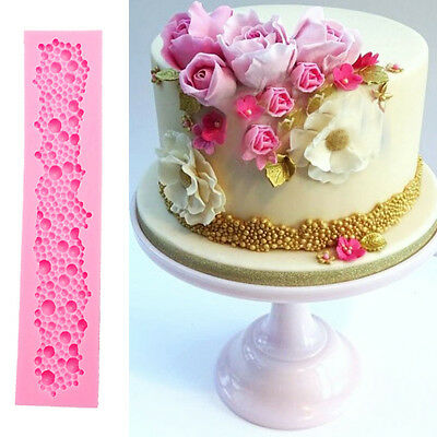 Pearl String Beads Silicone Mold Cake Decorating Fondant ...