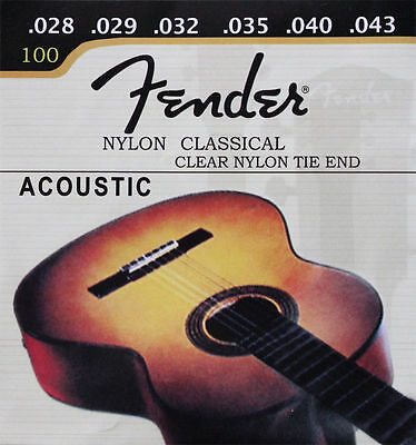 5 Sets (028-043) Nylon Classical Clear Nylon 1st-6th Classical Guitar Strings