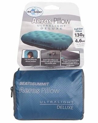Sea to Summit Aeros Inflatable Pillow Ultralight Deluxe - Teal