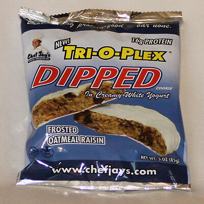 CHEF JAYS - Dipped Cookies Oatmeal Raisin - 12 x 3 oz. Cookies