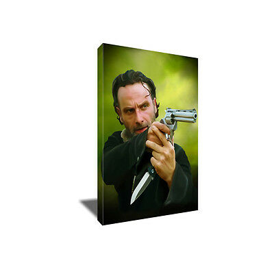 THE WALKING DEAD's Rick Grimes Poster Photo Painting Artwork on CANVAS Wall Art