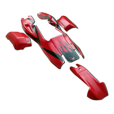 Plastic Body Shell Cover RED With Black Fit 1/5 Hpi Baja Rovan KM 5B