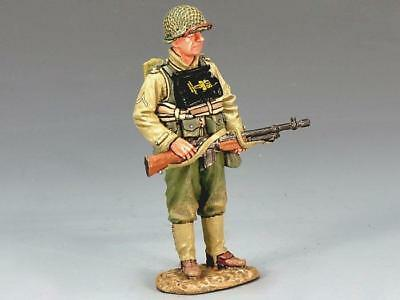 King & Country  Ww11-D Day  Standing Bar Gunner Dd128 Metal Military 1.30 Scale