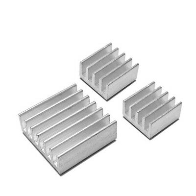 3pcs Raspberry Pi 2 Aluminium Heatsink Kit Self Adhesive Heat Sink