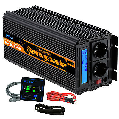 Convertisseur 12V 220V Pur Sinus Power inverter 2500W 5000W Onduleur LCD Display