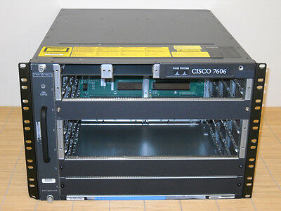 Cisco 7606 Router Chassis + FAN-MOD-6HS and PWR-2700-AC Power Supply