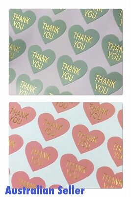 Thank You Stickers Various Styles Sent with Priority Post Australian Seller