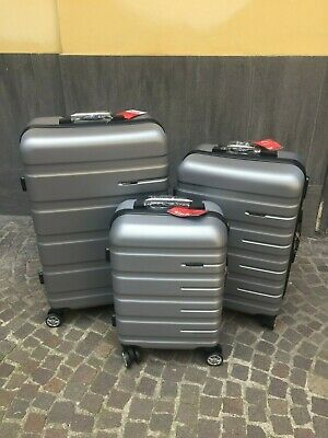 Set 3 Valigie Trolley Rigide Ultraleggere In Abs 4 Ruote Autonome
