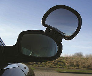 Caravan Towing Mirrors - Aero Blind Spot Caravan Clamp-on Towing Mirror