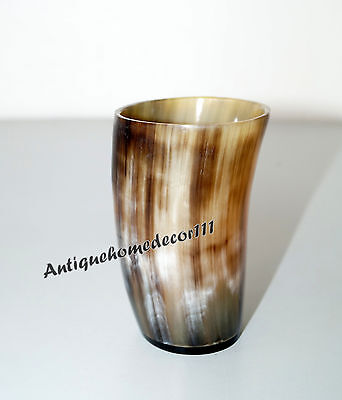Adorned Viking Drinking Horn Cup Glass Chalice For Beer Wine Vintage Gift Item