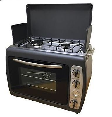 Caravan Cooking - Leisurewise Portable Kitchen - Twin Hob & Double Shelf Oven