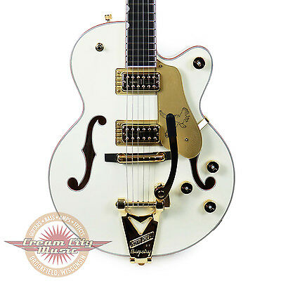 Brand New Gretsch G6112TCB-WF Falcon Center Block Jr. Limited Aged White Demo