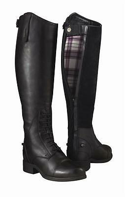 Ariat Bromont Tall H20 Black & Choc Non-insulated Long Riding Boots Sizes 4 - 7