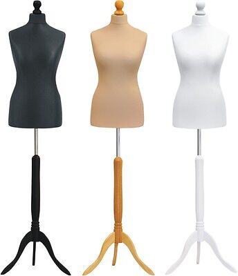 Female Tailors Dummy Size 12/14 Tripod Base Dressmakers Mannequin Display Bust