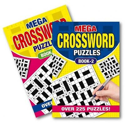 2 X A5 Crossword  Puzzle Book Books 262 Powerful Puzzles A5 Pages Trivia Uk