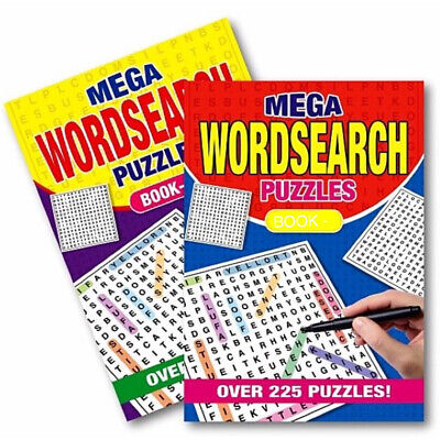 2 X A5 Mega WordSearch Puzzle Book Books 500 Puzzles Pages Super Trivia