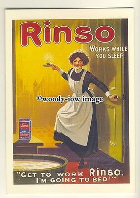 ad0434 - Rinso Laundry Aid - Works While You Sleep - Modern Advert Postcard