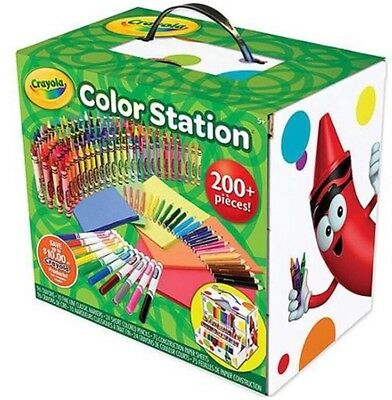 Crayola Colouring Crayons Pens 200 Piece Set Colour Station With Storage Case