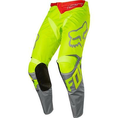 "Pantaloni cross | enduro FOX 180 Race giallo fluo / grigio ""30"""