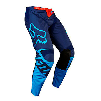 "Pantaloni cross | enduro FOX 180 Race blue / azzurro fluo ""34"""