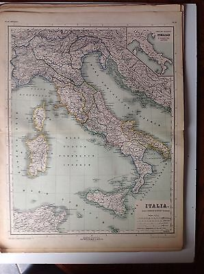 Italia, Antique Map Of The Ancient World, Kiepert 1896, Sicilia Corsica Sardinia