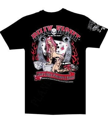 """T-shirt Billy Eight  """"Man's Ruin Pleasure """" manche courte coupe homme"""
