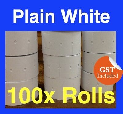 Plain White Price Pricing Gun Tags Labels Plain White 100 Rolls Mx 5500 Pwr-100