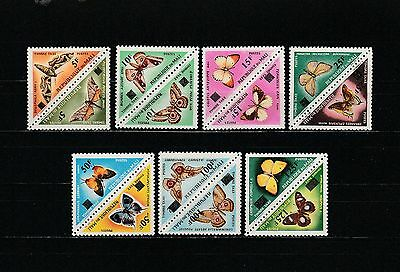 Mali  timbres taxe  faune insectes papillolns triangles surch 1961 num: 21/34 **