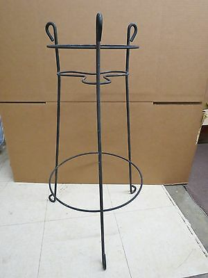 "Vintage Wrought Metal 2 Tier Round 30"" Plant Stand Patio Table #363"