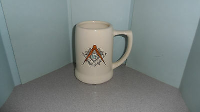 """Vintage Masonic Mug Approximately 5"""" Tall With A Handle And Marked Made In Usa"""