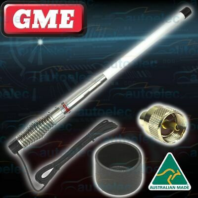 Gme Ae4704W 2.1Dbi White Heavy Duty Uhf Cb Radio Antenna Bull Bar Fiberglass New