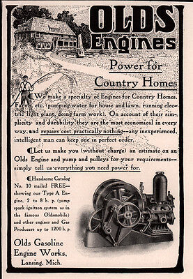 Ad Lot Of 3 Early 1900 Ads Olds Gasoline Engine Works
