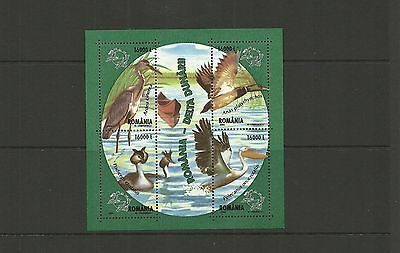 Romania Sgms6389 Water Birds  Minisheet  Mnh