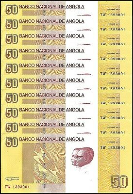 Angola 50 Kwanzas X 10 Pieces (PCS), 2012, P-152, UNC
